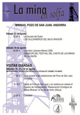 Propuesta interesante para el fin de semana: La Mina en Solfa en el Parque Minero de Andorra